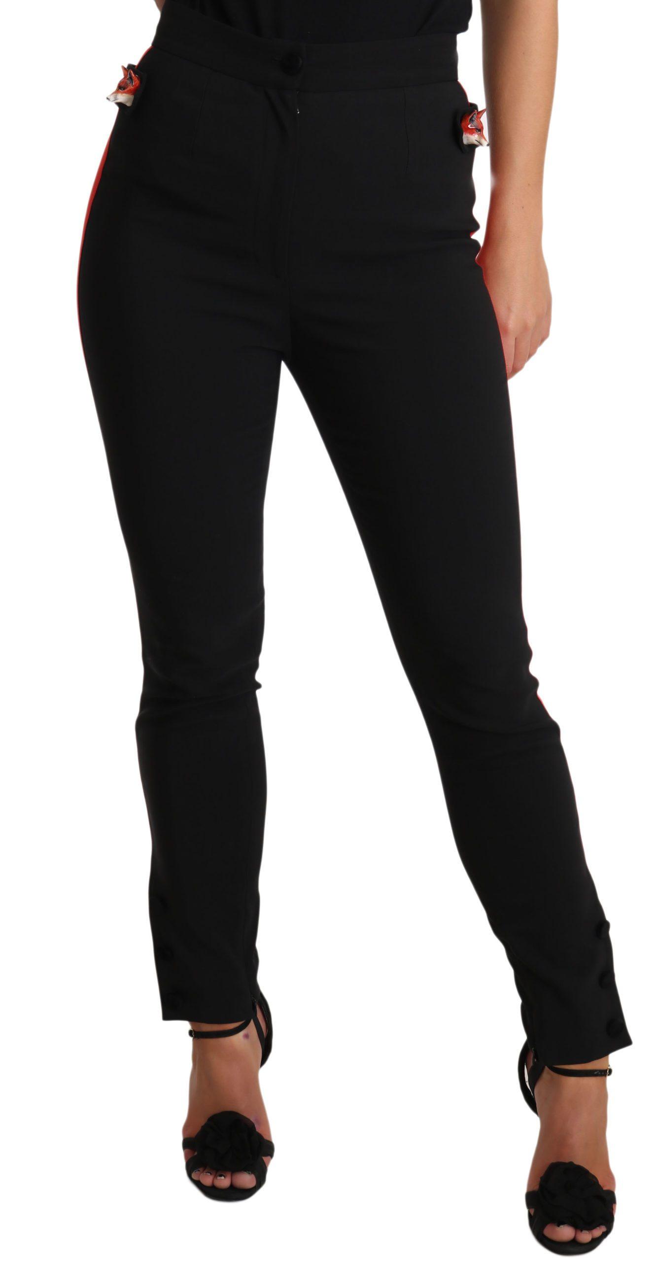 Dolce & Gabbana Women's Trouser Black PAN70075 - IT40|S