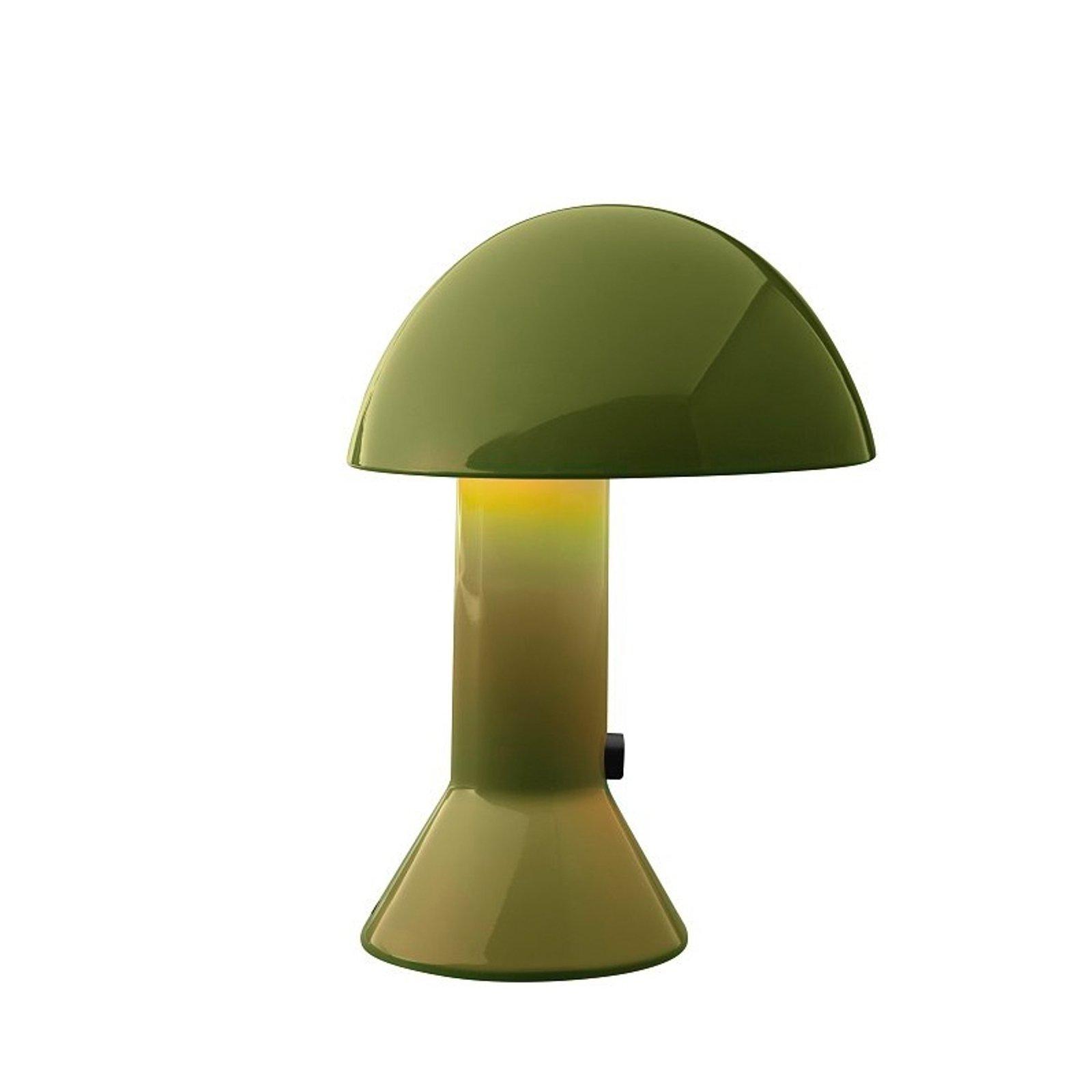 Design-bordlampe ELMETTO, grønn