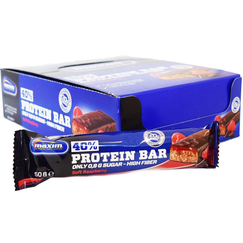 "Hel Låda Proteinbars ""Soft Raspberry"" 18 x 50g - 58% rabatt"