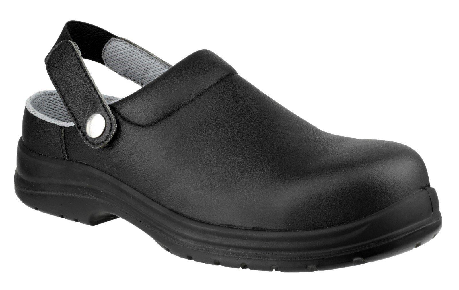 Amblers Unisex Safety Antistatic Slip on Clog Shoe Black 21896 - Black 3