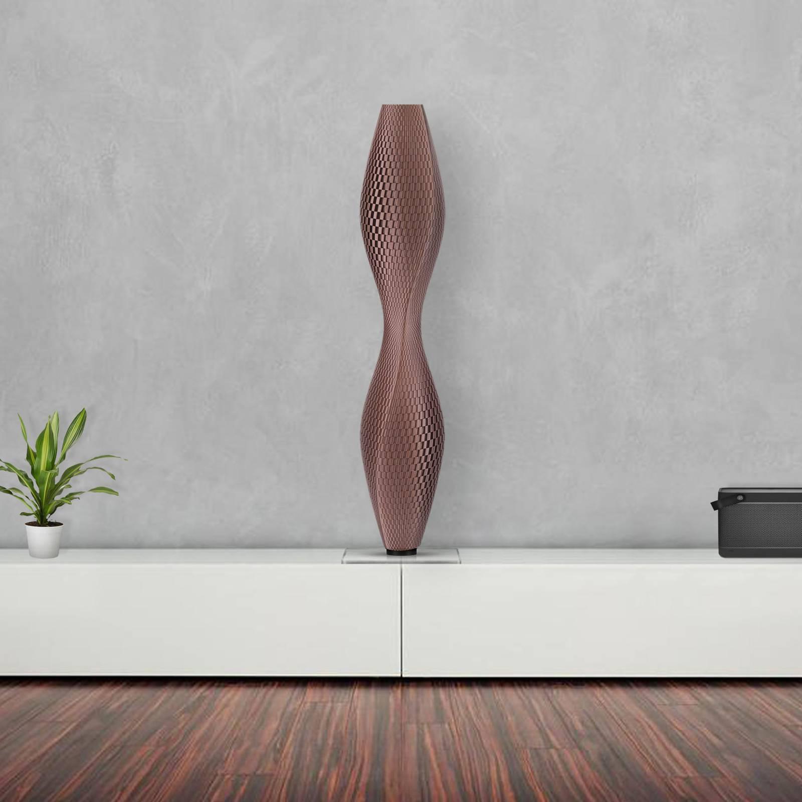LED-lattiavalo Flechtwerk Lava, 75 cm, kupari