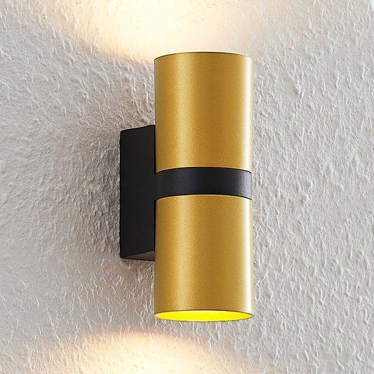 Arcchio Arsa -seinävalaisin, kaksilamppuinen kulta