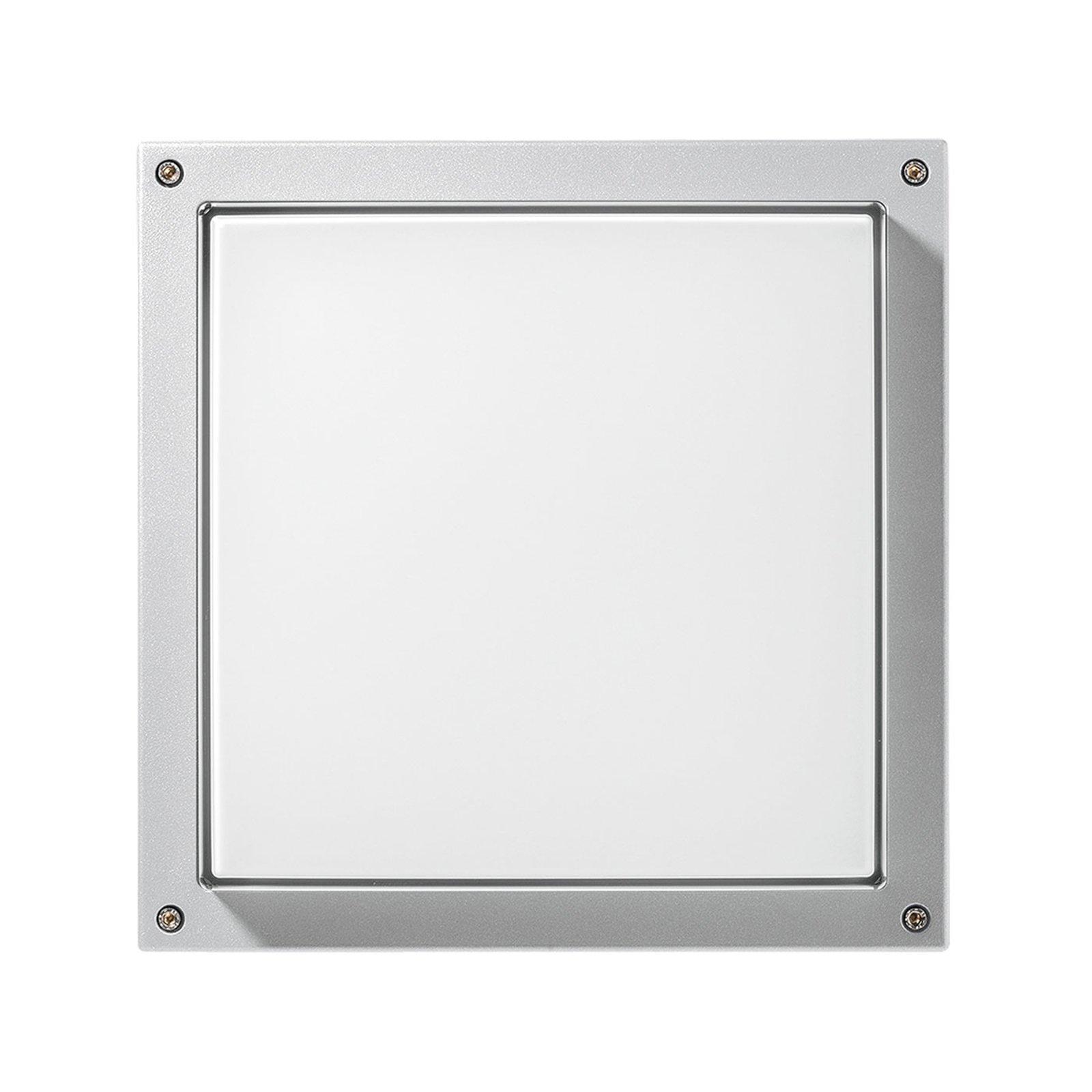 LED-vegglampe Bliz Square 40, 3 000 K, hvit
