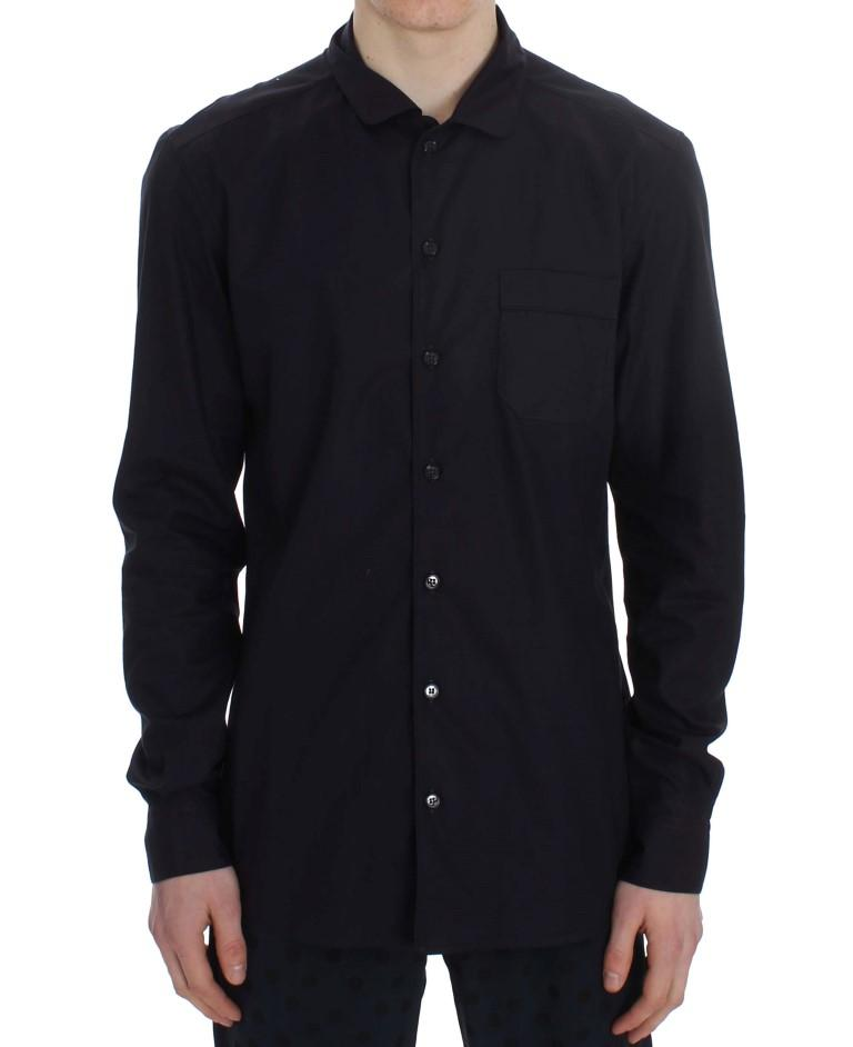 Dolce & Gabbana Men's Striped Cotton Pajama Shirt Purple SIG30006 - XS