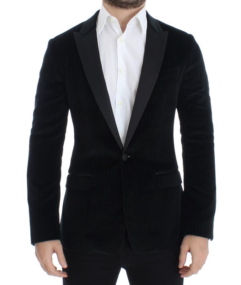 Dolce & Gabbana Men's Silk Slim Fit Blazer Black SIG12218 - IT44 | XS