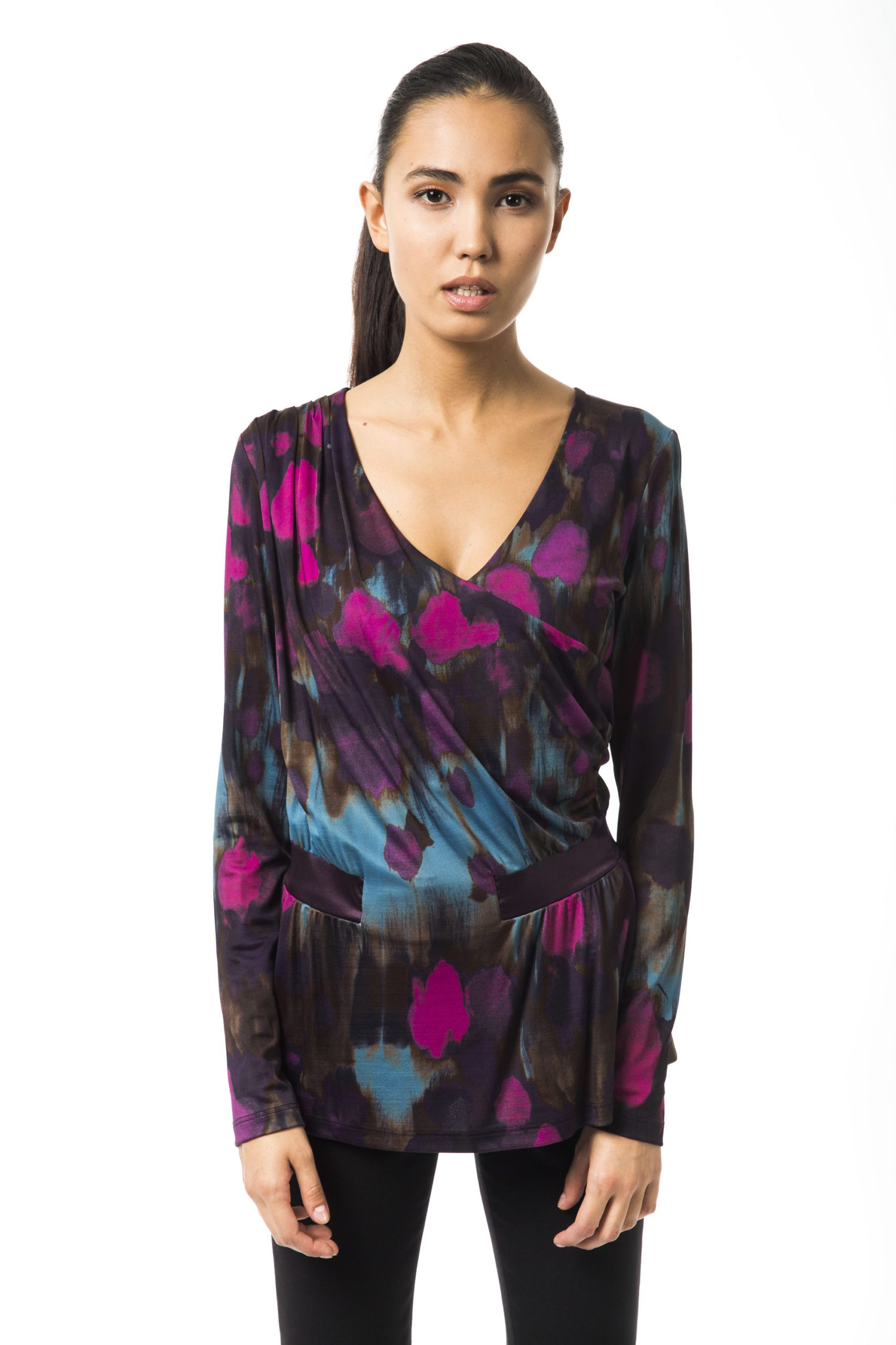 BYBLOS Women's Verdemuffa T-Shirt Multicolor BY1234684 - IT42 | S