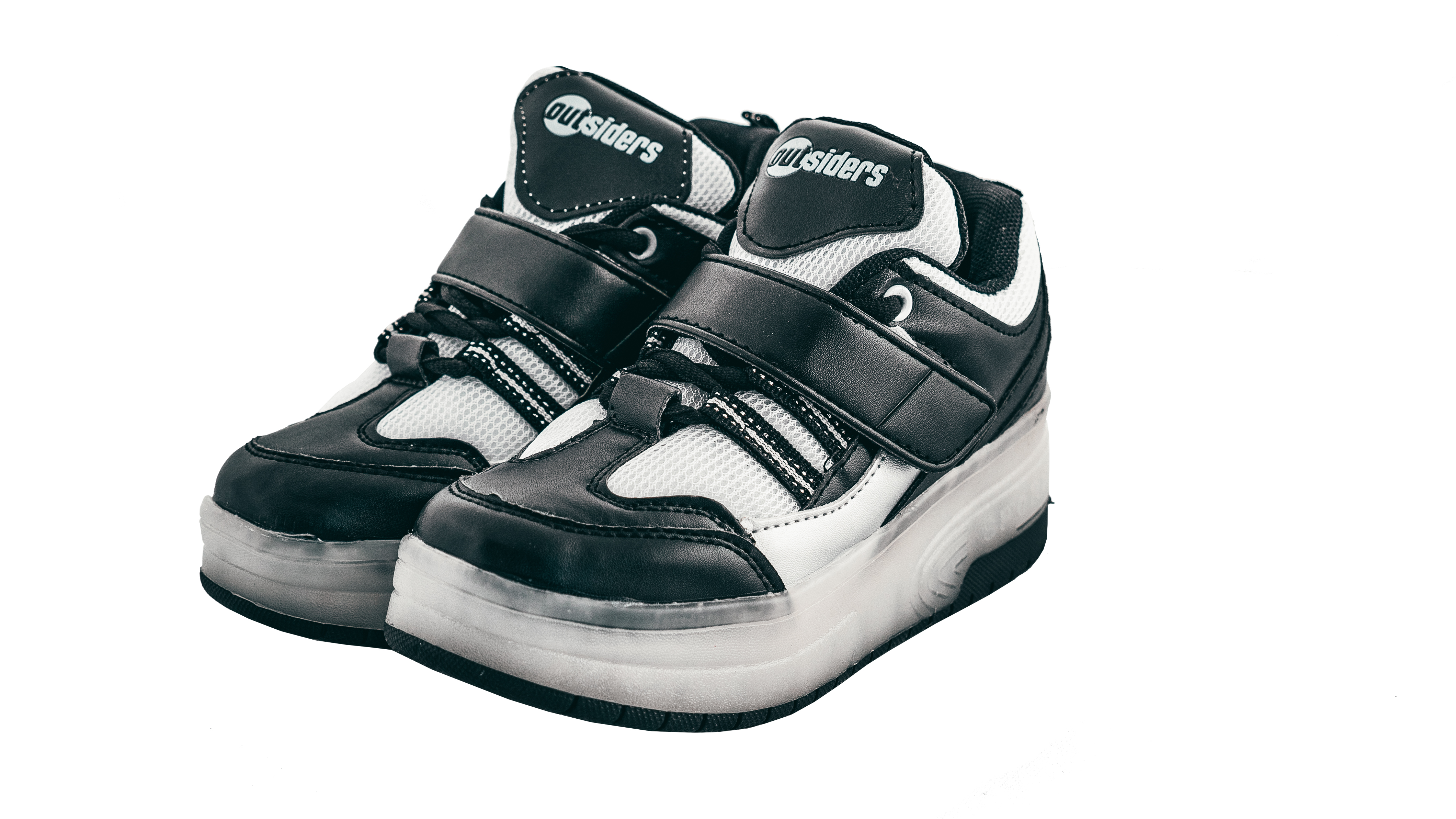 Outsiders - Roller Shoes with LED - Black/Silver (size: 28)