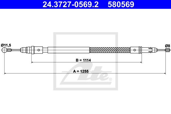 Käsijarruvaijeri ATE 24.3727-0569.2