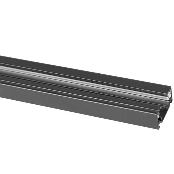 Hide-a-Lite LiteTrac Skinne svart 1 m