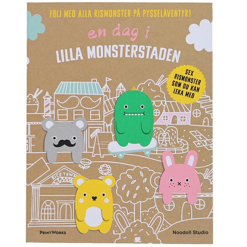 """Pysselbok """"En dag i Lilla monsterstaden"""" - 58% rabatt"""