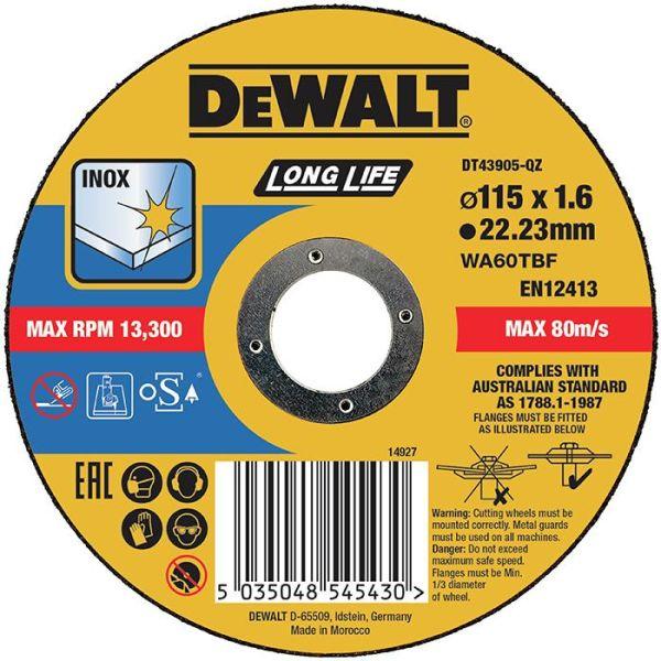 Dewalt DT43905 Kappskive thin cutting 115 x 1,6 mm