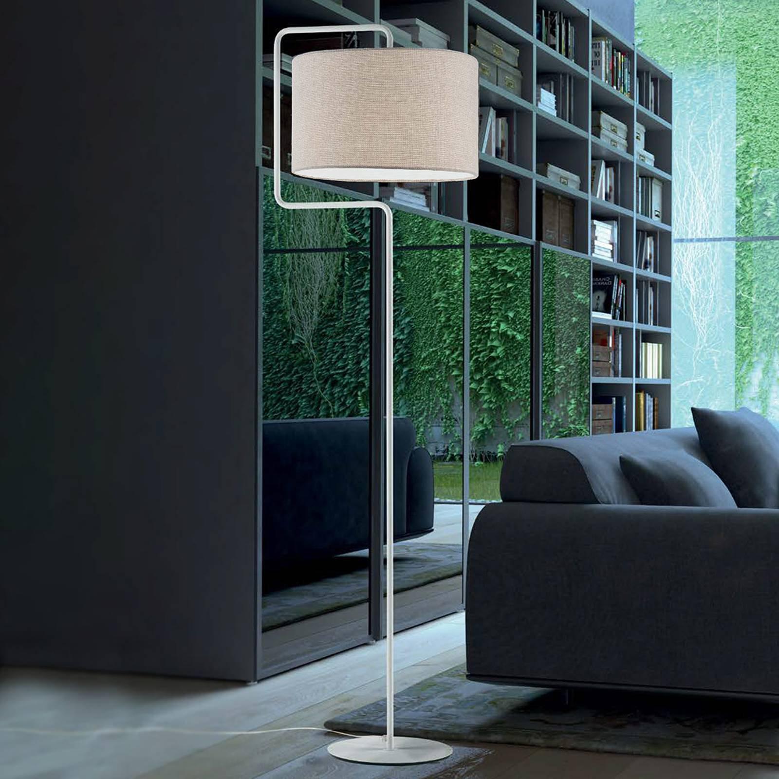 Morfeo gulvlampe skjerm tekstil krem