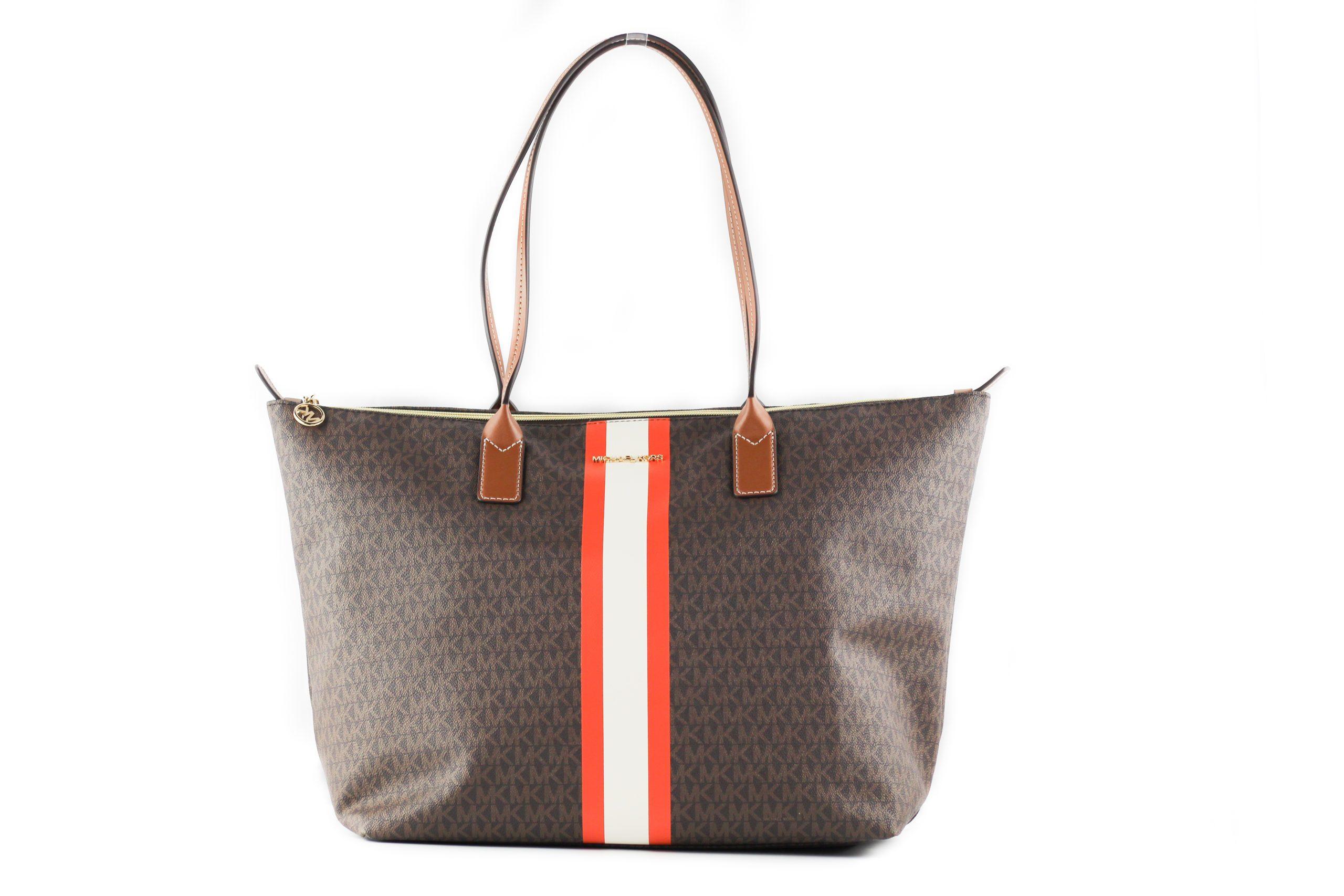 Michael Kors Women's Zip Tote Bag Brown 25598