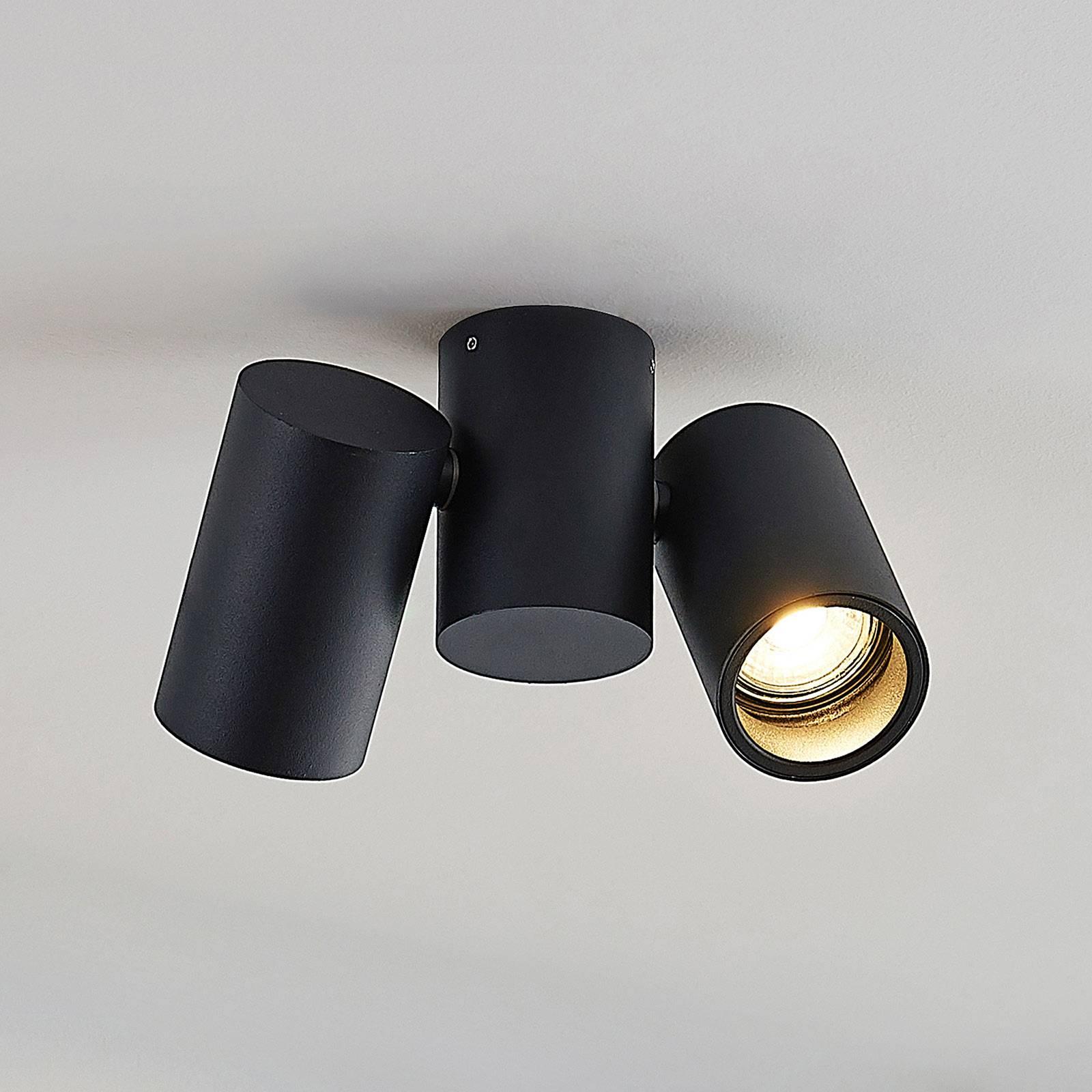 Kattovalaisin Gesina, 2-lamppuinen, musta