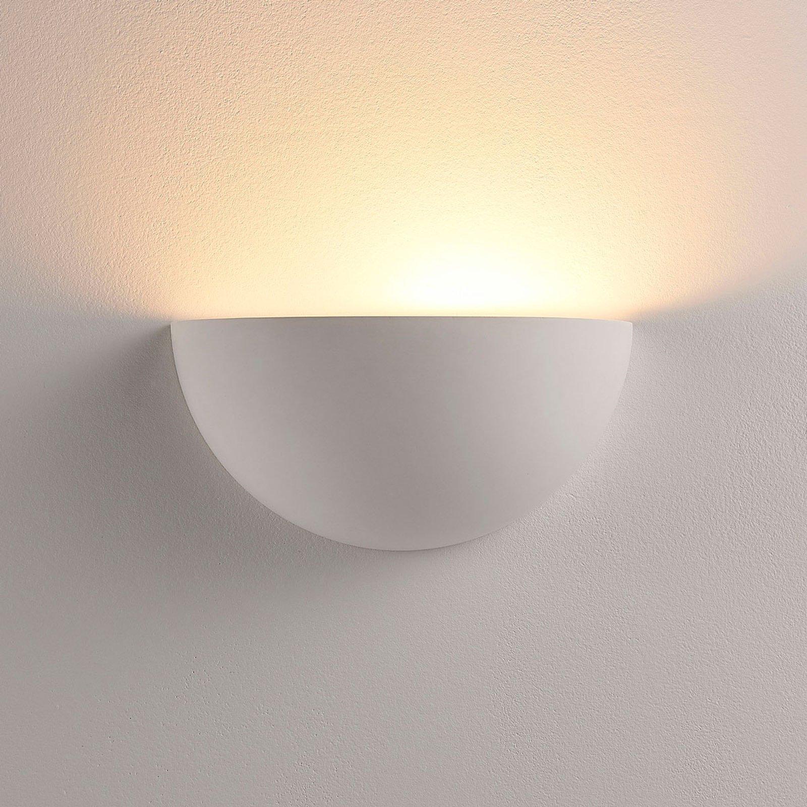 Halvrund LED-spot Narin i gips, hvit
