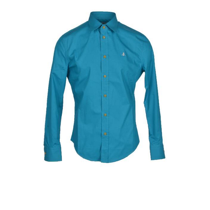 Vivienne Westwood - Vivienne Westwood Men Shirt - turquoise 46