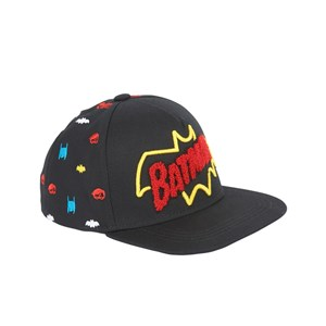 Fabric Flavours Black Batman Logo Keps One Size (5-10 years)