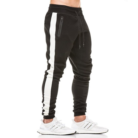 Star Gym Joggers, Black/White