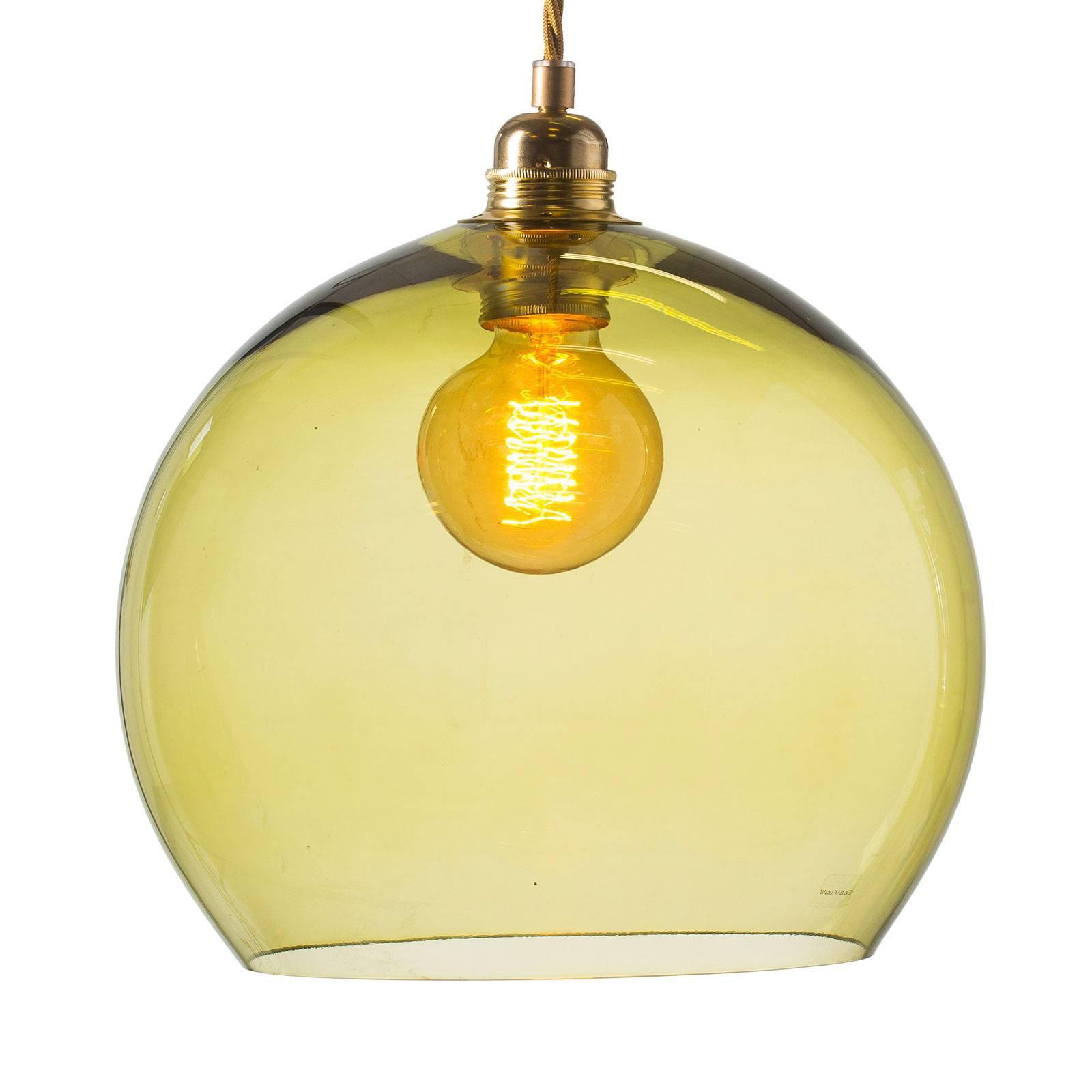 EBB & FLOW Rowan hengelampe gull/olivengrønn Ø28cm