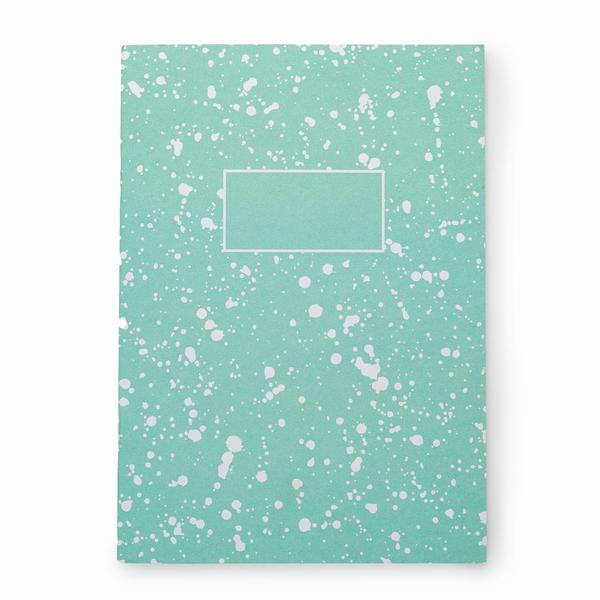 Turquoise Splatter Notebook A5