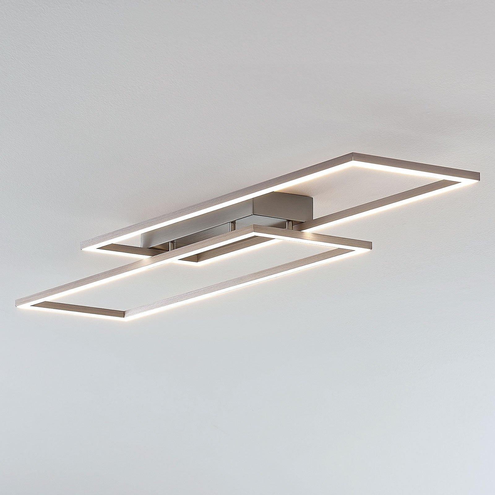 Rammeformet LED-taklampe Quadra, dimbar