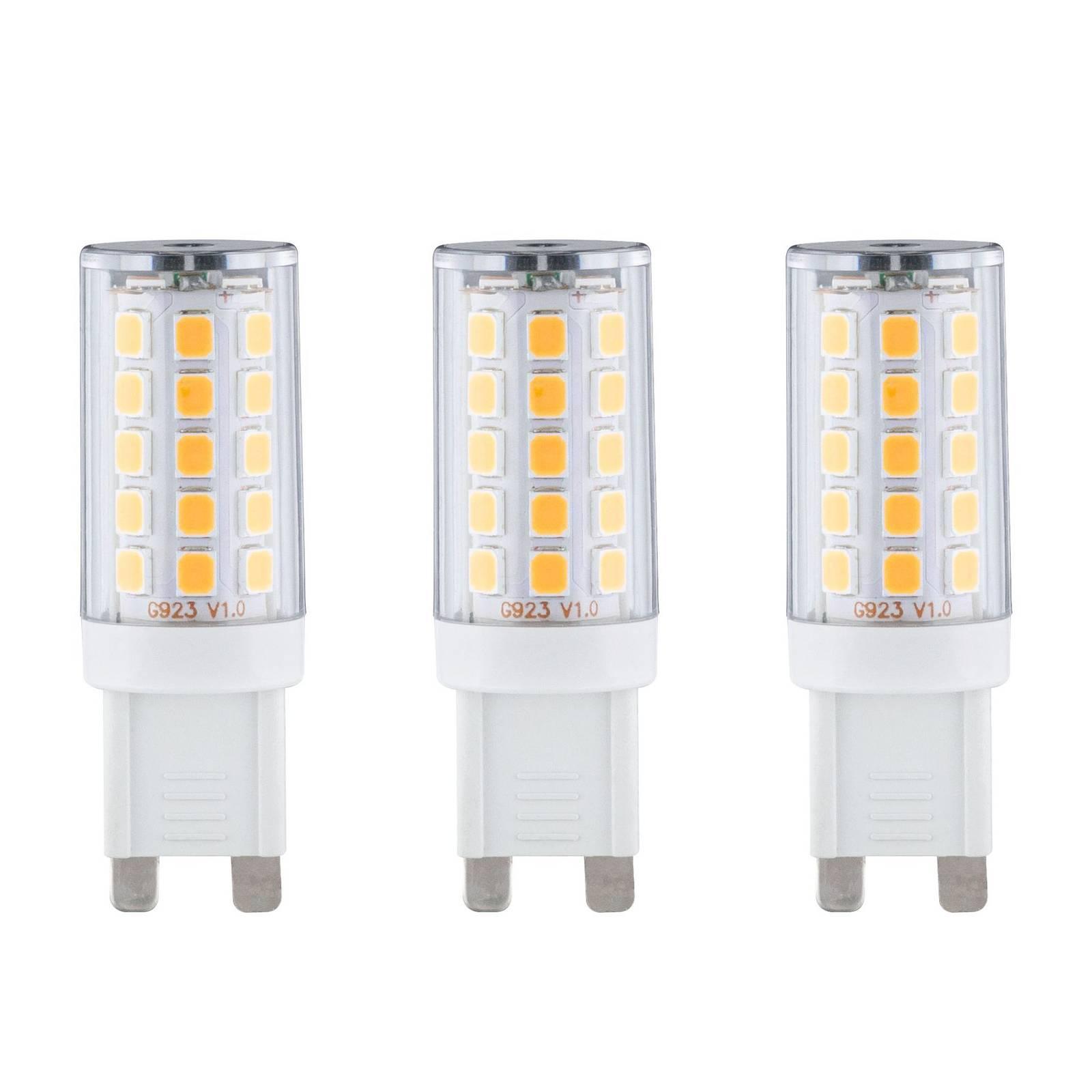Paulmann kaksikantainen LED-lamppu G9 2,2W, 3 kpl