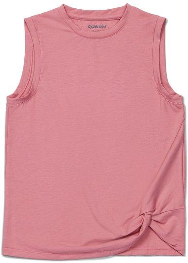 Hyperfied Jersey Knot Tank Top, Blush 134-140