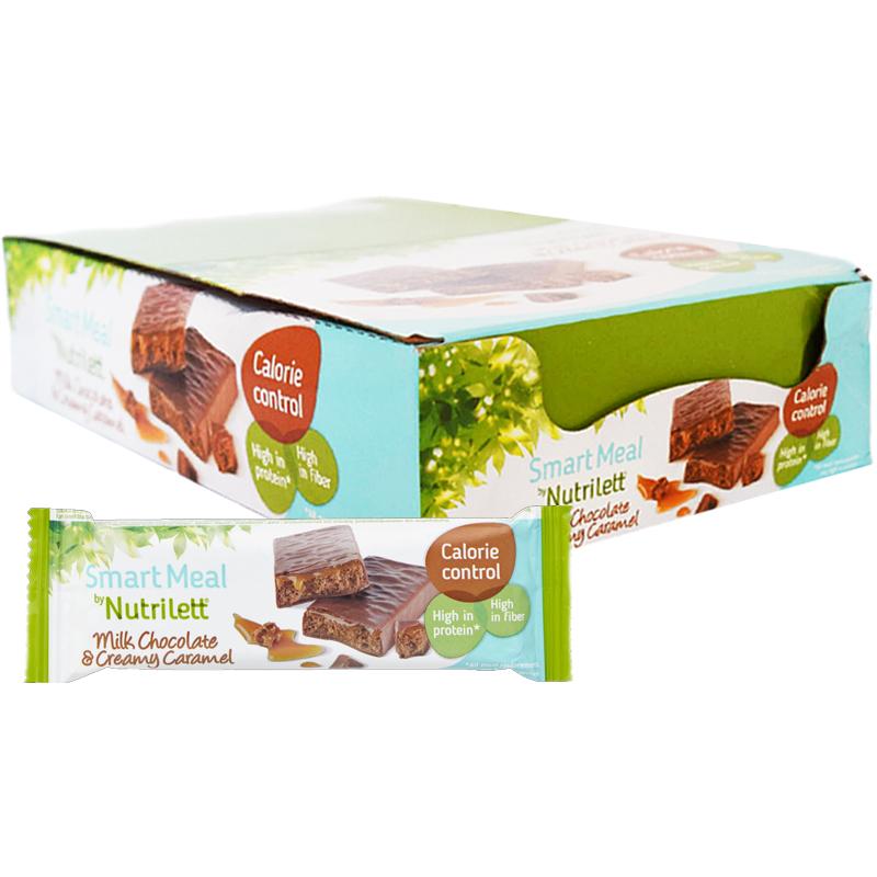 """Hel Låda Måltidsersättningsbars """"Choco & Caramel"""" 15 x 60g - 67% rabatt"""
