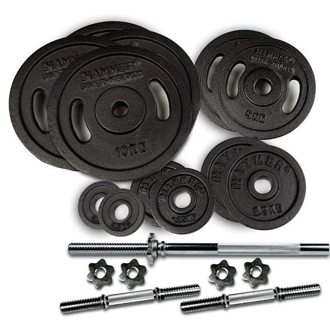 Hammer Sport Weight Discs 73 kg Set, Skivstångset