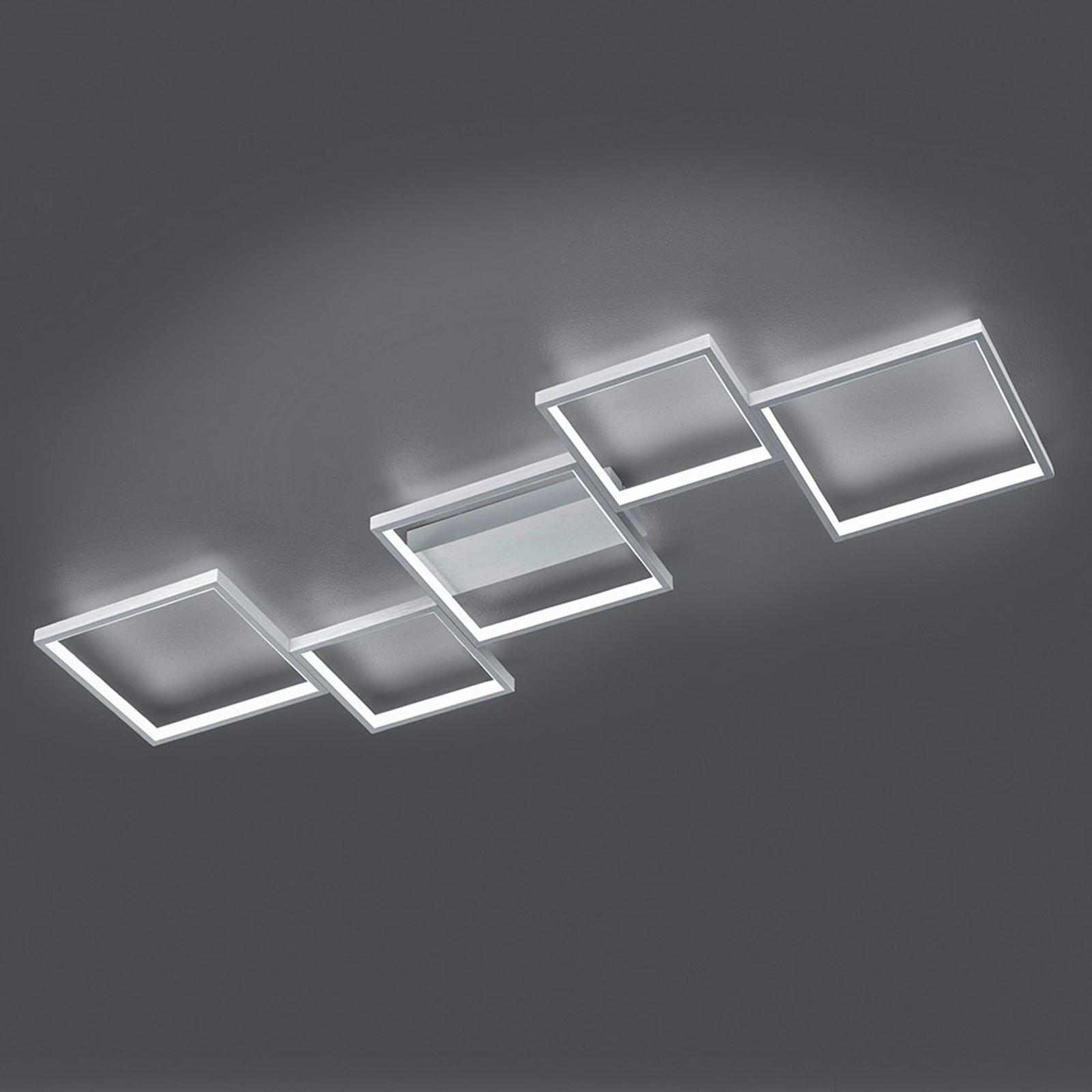 LED-kattovalo Sorrento 120x48cm, harjattu alumiini
