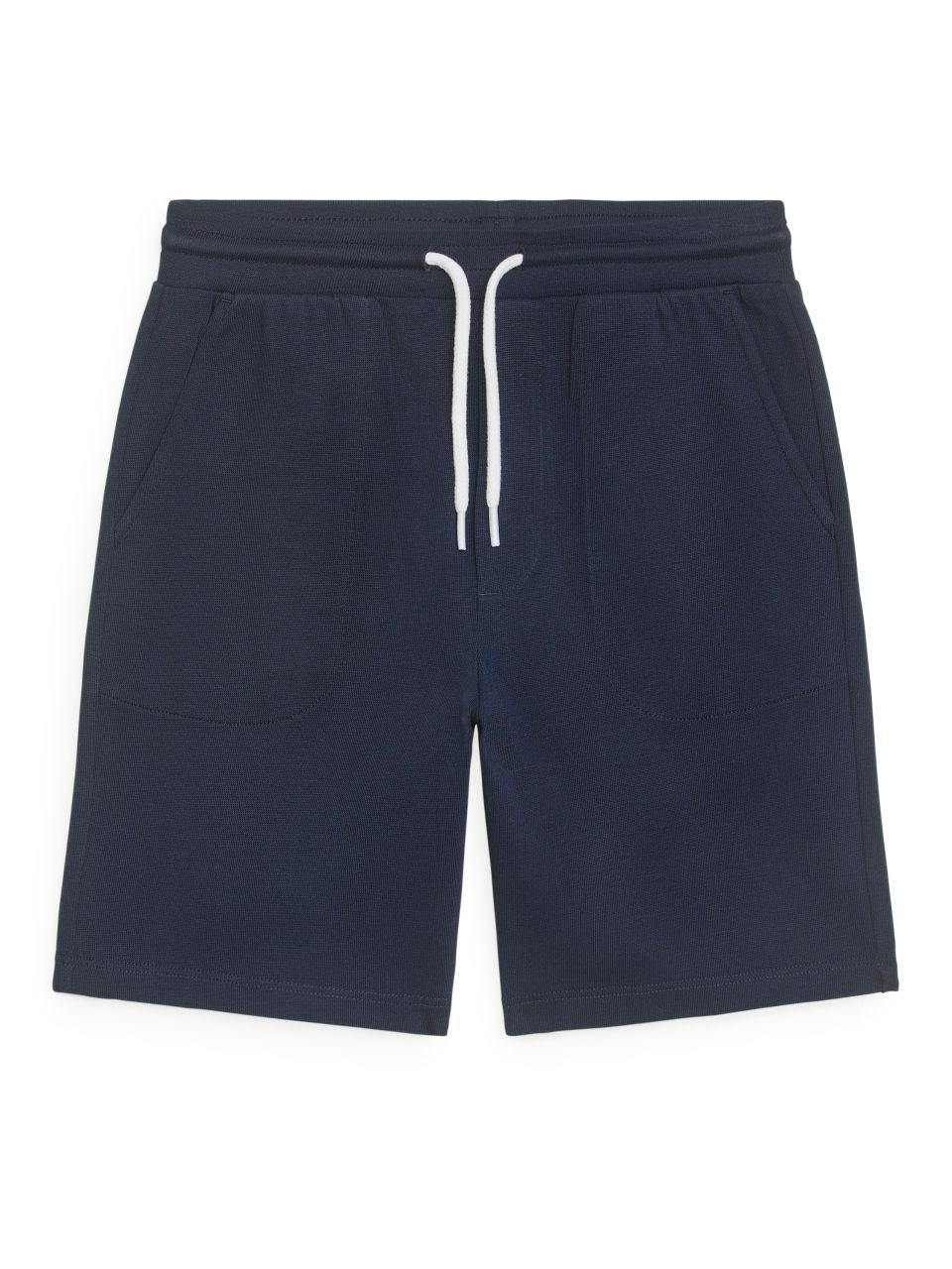 Elastic-Waist Shorts - Blue