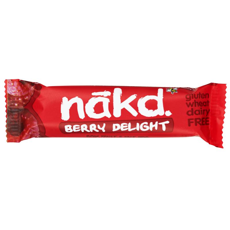 Pähkinäraakapatukka Berry Delight - 36% alennus
