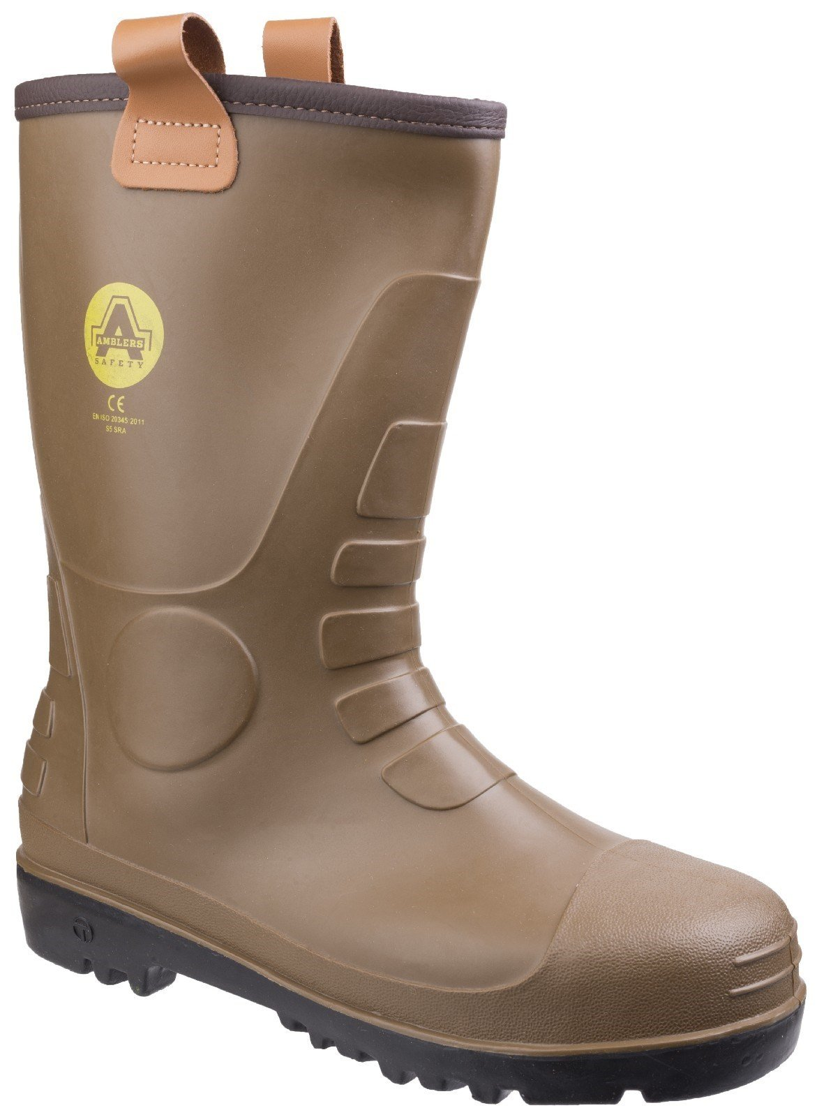 Amblers Unisex Safety Waterproof PVC Pull on Rigger Boot Tan 21153 - Tan 8
