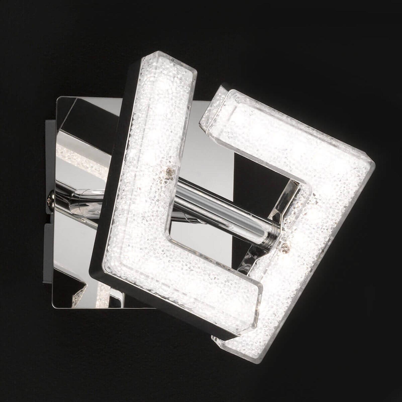 Kiltäväkrominen LED-seinävalaisin Lea, säädettävä