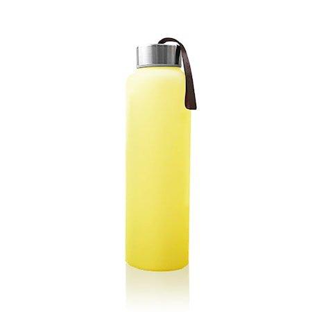 Vannflaske av Glass med Splinterbeskyttelse, Gul