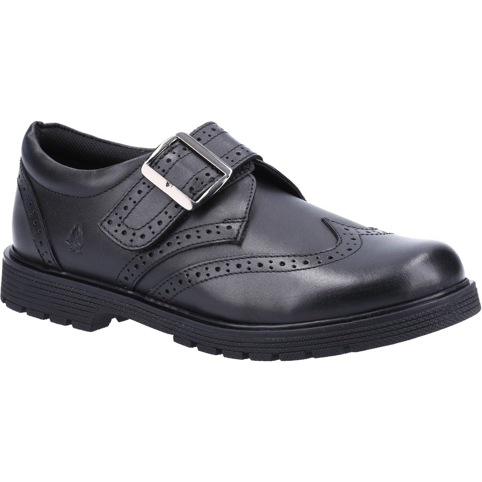 Hush Puppies Kid's Rhiannon Junior School Shoe Black 32625 - Black 12