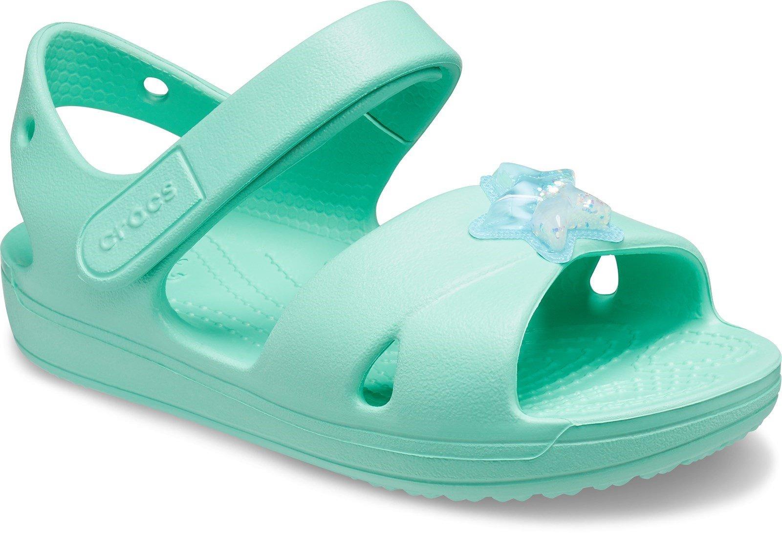 Crocs Kid's Classic Cross Strap Charm Sandal Various Colours 31879 - Pistachio 4