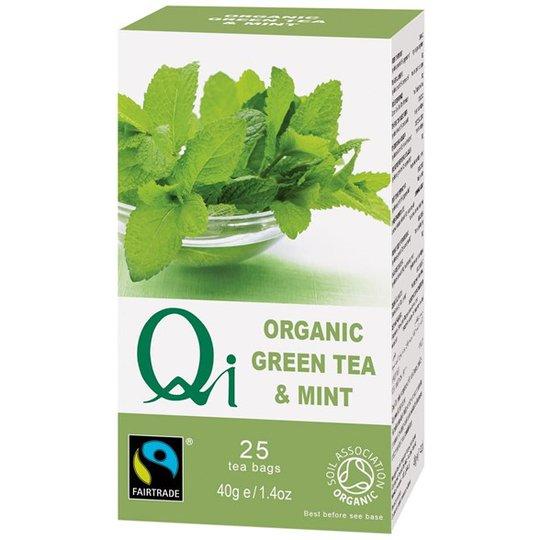Qi Teas Grönt Te med Pepparmynta, 25 påsar
