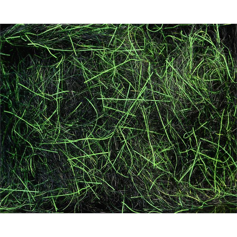 Spawn's UV Simi Seal Dubbing Black / UV Chartreuse Green