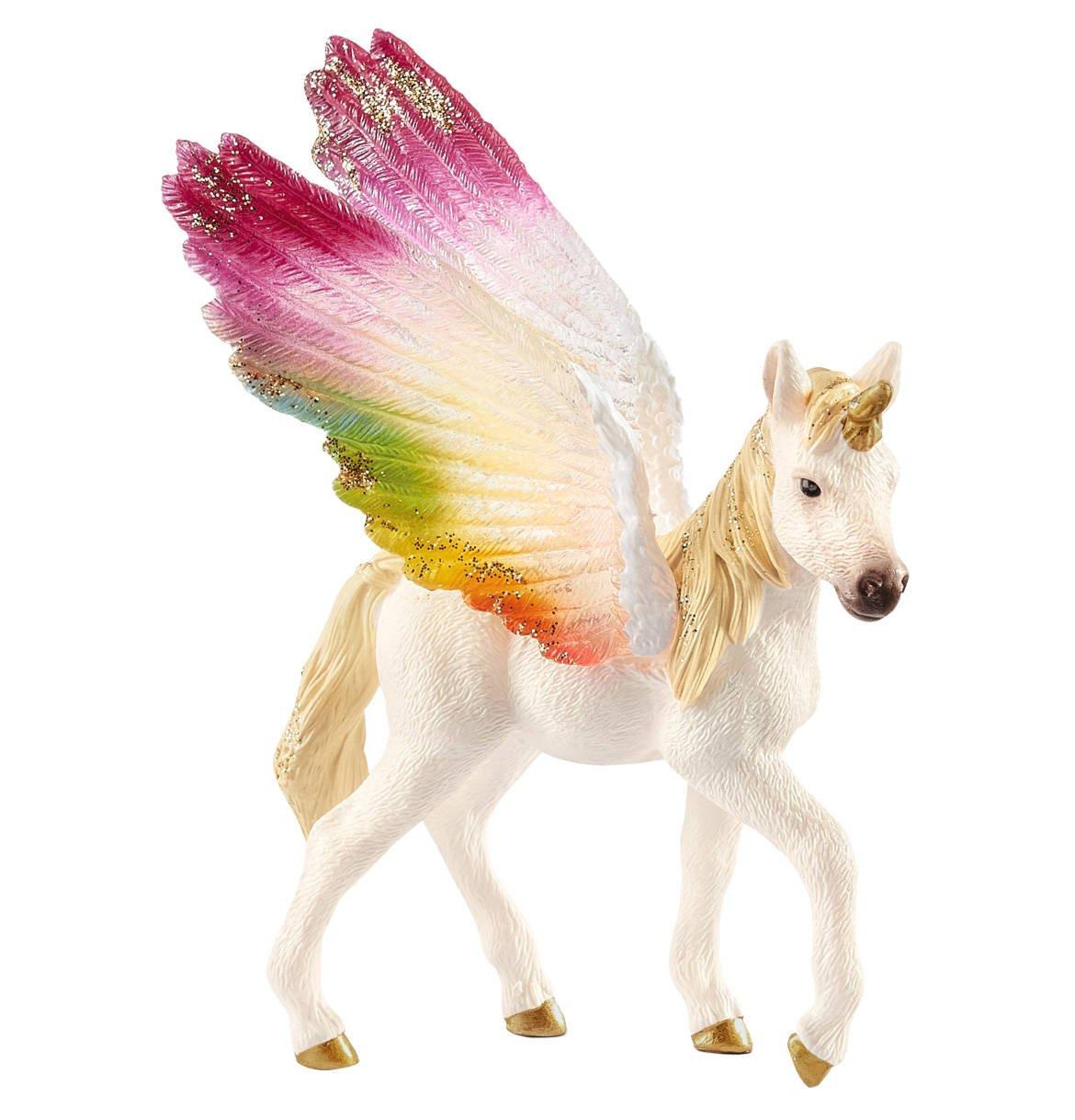 Schleich - Winged Rainbow Unicorn, Foal (70577)