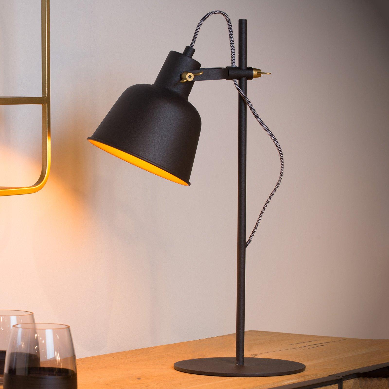 Pia bordlampe svart