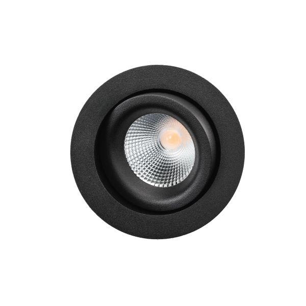 SG Armaturen Junistar Lux Isosafe Downlight-valaisin 7 W, musta 560 lm