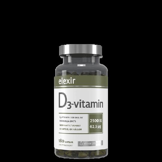 D3-vitamin 2500 IE, 180 kapslar