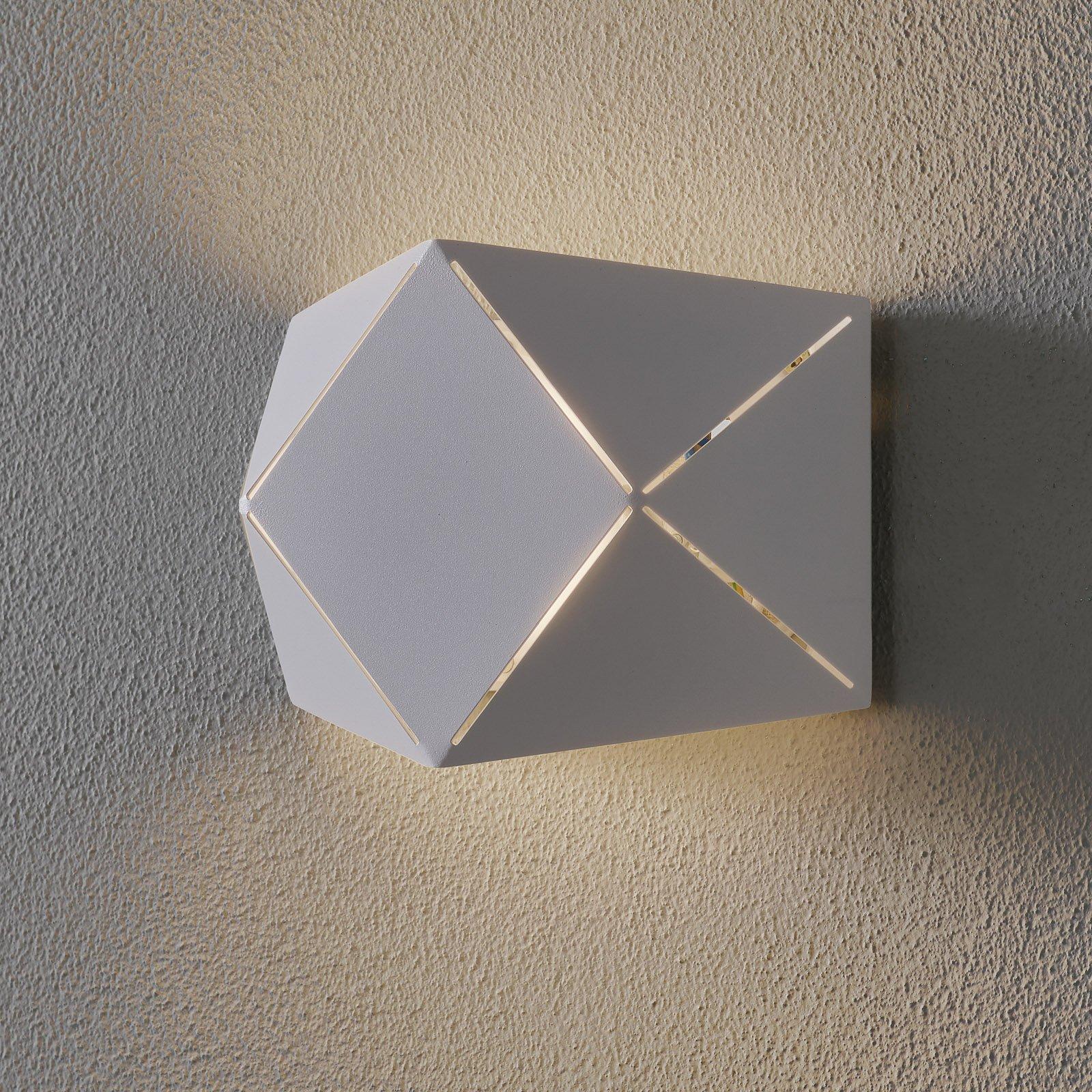 LED-vegglampe Zandor i hvit, bredde 18 cm