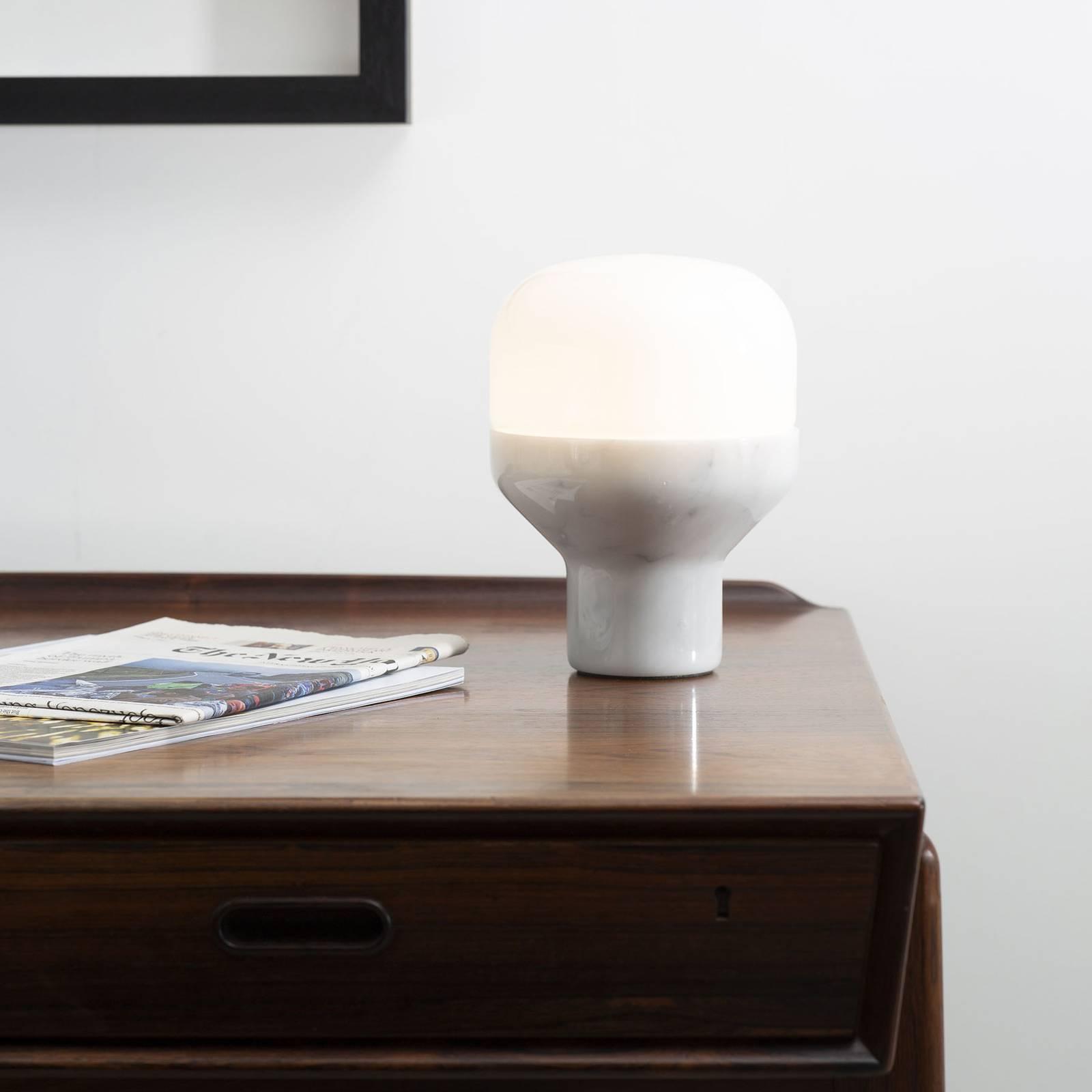 Martinelli Luce Delux -pöytälamppu 43 cm valkoinen