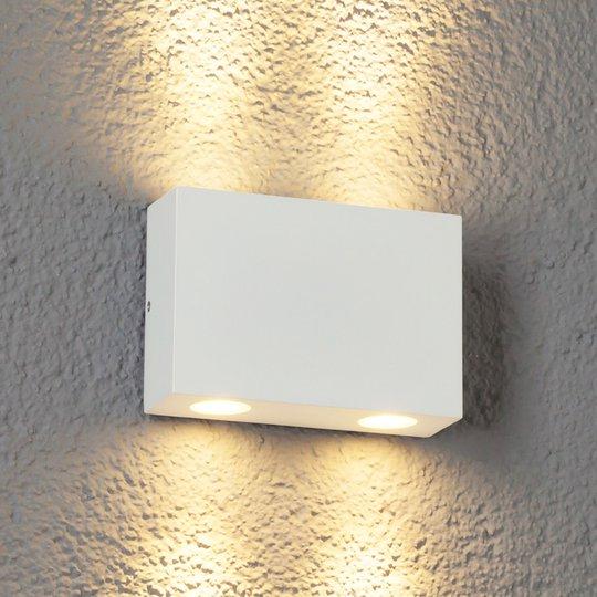 4-osainen LED-ulkoseinävalaisin Henor valkoinen
