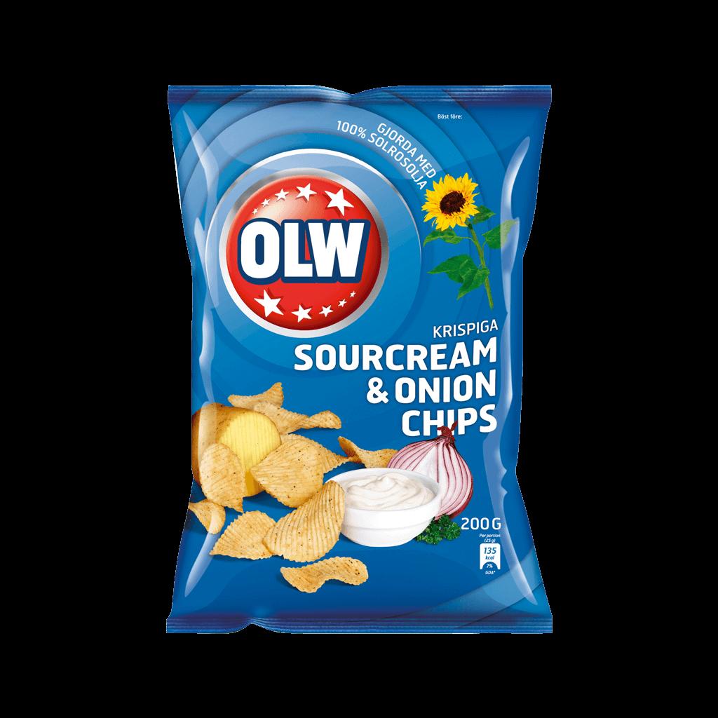 OLW Sourcream & Onion 175g