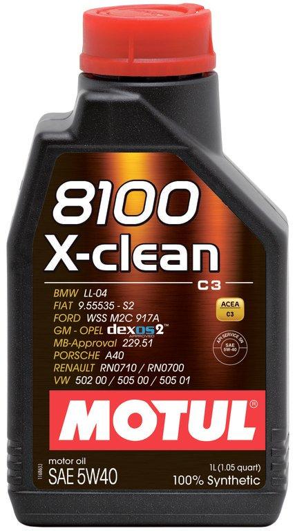 Moottoriöljy MOTUL 8100 X-CLEAN 5W40 1L