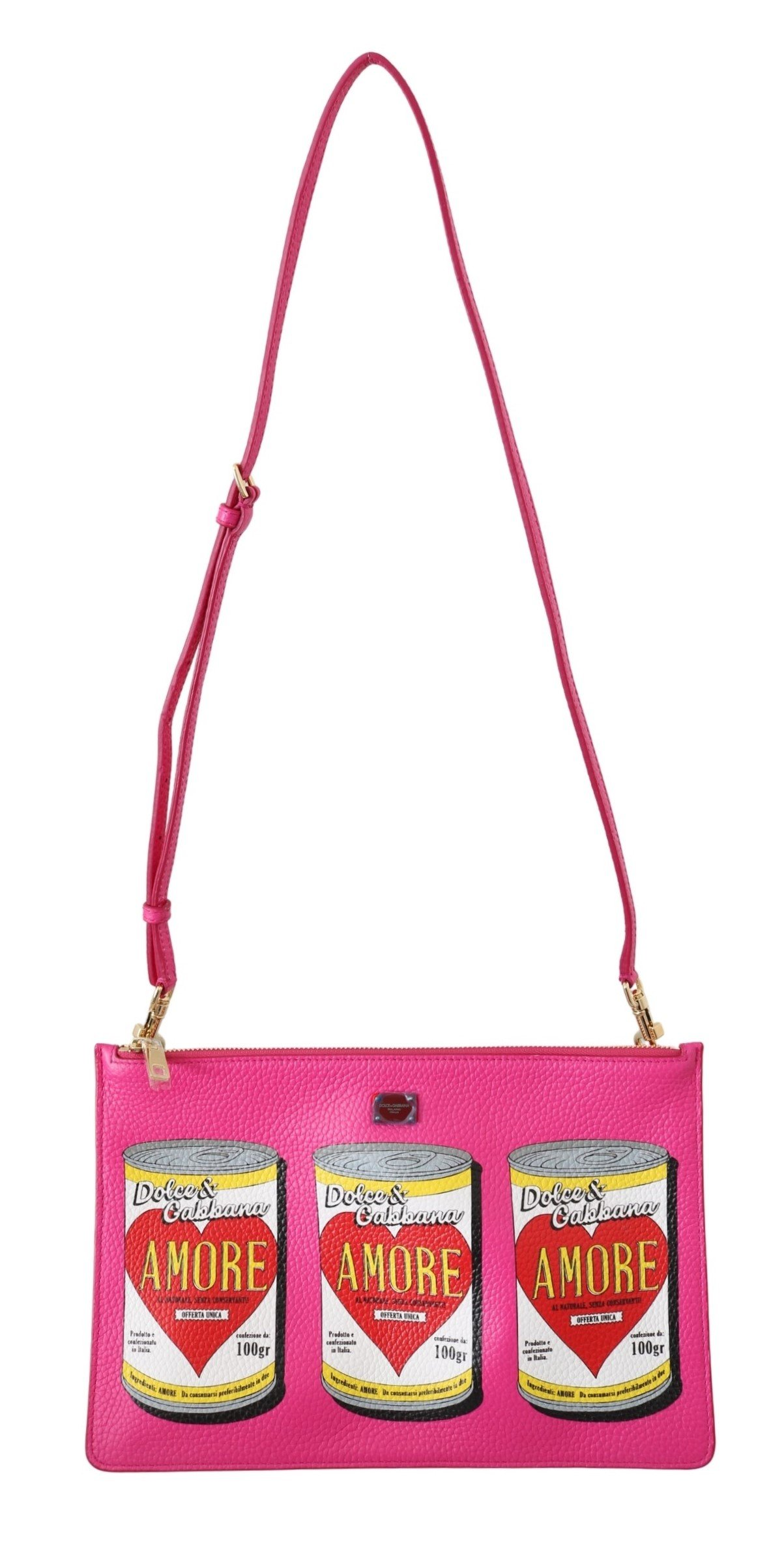 Dolce & Gabbana Women's Amore Cans CLEO Shoulder Bag Pink VAS8862