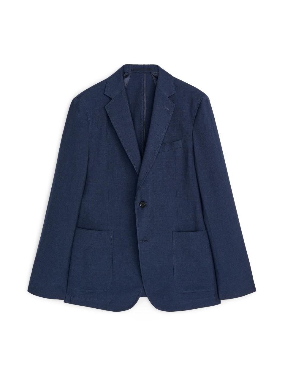Casual Blazer Wool Linen - Blue